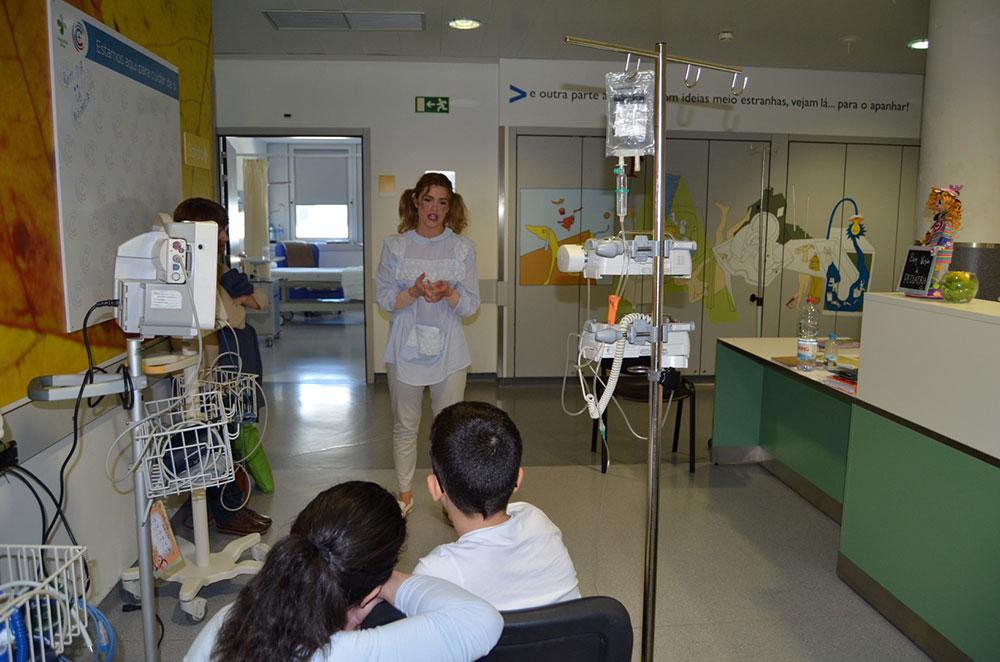 hospital-de-braga-Aluna alegrou crianças