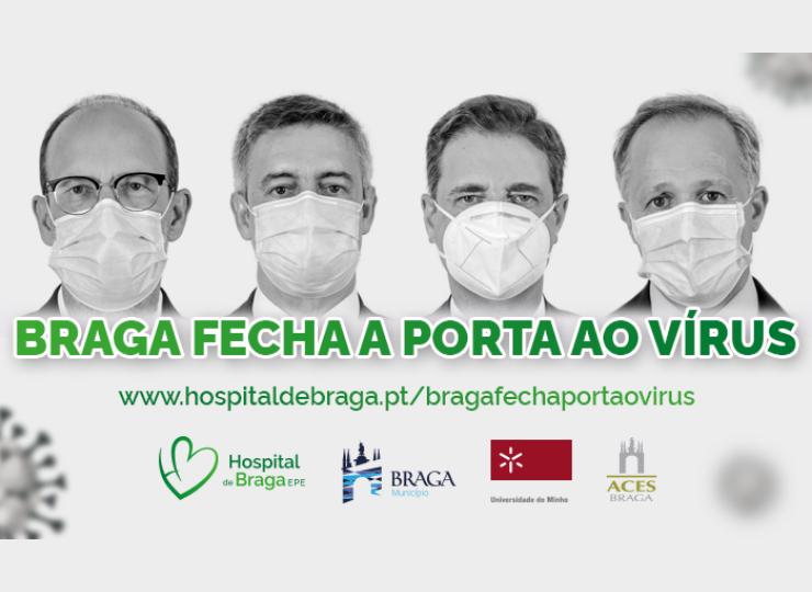 "hospital-de-braga-Campanha ""Braga Fecha a Porta ao Vírus"""